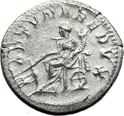 GORDIAN III 243AD Authentic Genuine Ancient Silver Roman Coin Fortuna i59144