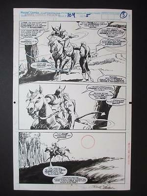 Marvel Comics Presents #104 Original Art Page 5 Gene Colan Wolverine Horse 1992