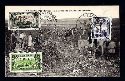 14841-SYRIA-OLD POSTCARD LATTAQUIE.1926.SYRIE.Alaouites.Carte postale