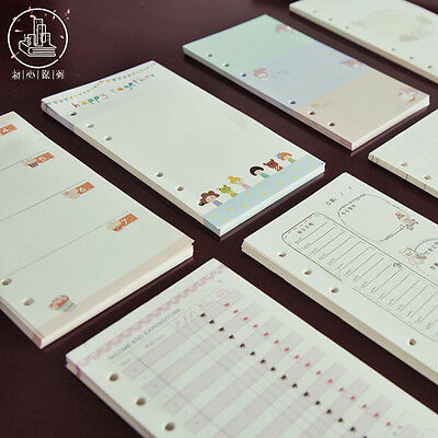 A5/A6 Cartoon Colourful Planner Diary Insert Refill Schedule Organiser Note Memo
