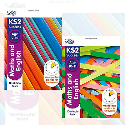 Maths and English Age 9-10 & 10-11 :10-Minute Tests 2 Books Collection Set New