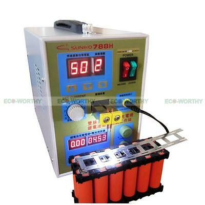 ECO 788H Dual Pulse Battery Spot Welder Welding Machine +Battery Charger 220V