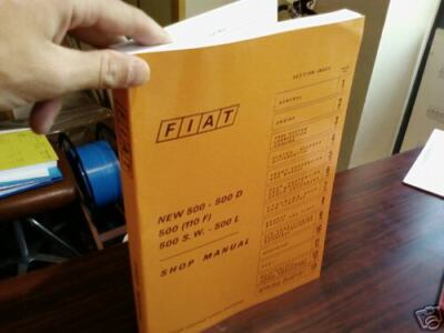 Fiat 500 (Factory) Workshop Manual Repair Service Instruction Technical