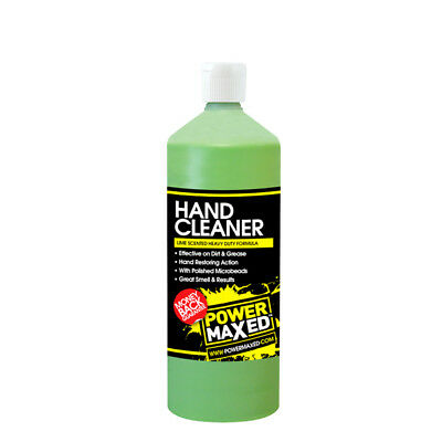 Power Maxed HC 1L Hand Cleaner 1 Litre Lime Beaded Heavy Duty Oil Remover