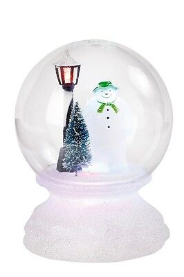 Raymond Briggs The Snowman Colour Changing  Led Light Globe Christmas Decoration