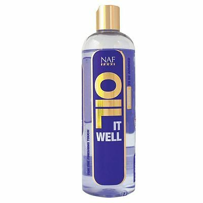 NAF It Well 500ml Fragrance Free Oil Horses Highlight Shine Sparkle Equestrian