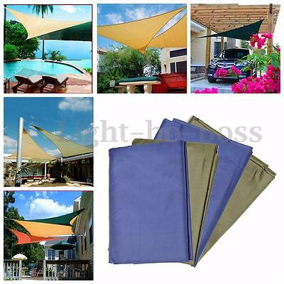 Voile d'ombrage Triangulaire Protection UV Solaire Toile Parasol Jardin Balcon