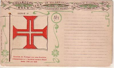 "Brazil - Collecçao ""Brasiliana"" Serie 1a. No. 1 unused postcard"