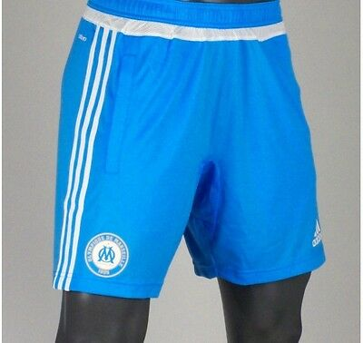 Olympique Marseille 15-16 Adidas Training Shorts In Adult Sizes M, L, Xl & Xxl