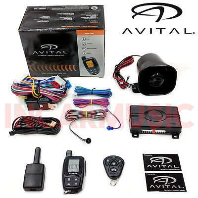 Avital 3305L 2 Way LCD Car Security Pager Alarm System With Shock Sensor & Siren