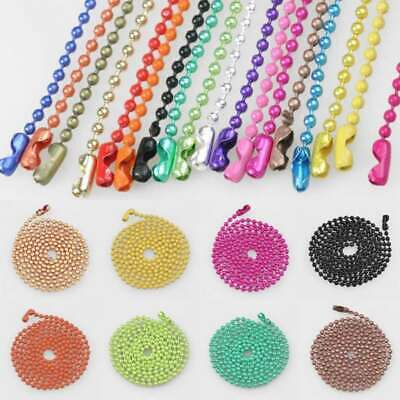"""70cm/28"""" Ball Metall Bead Connector Chain Jewellery Making 1.5/2.4mm Lots HC"""