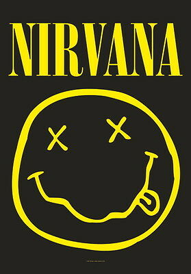 "Nirvana Flagge / Fahne ""smiley"" Poster Flag Posterfahne Posterflagge"