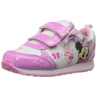 Disney 4616 Girls Minnie Mouse Light Up Tennis Shoes Fashion Sneakers BHFO
