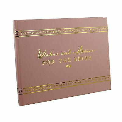 Amore HEN PARTY Wishes & Advice For The Bride Pink Guest Book