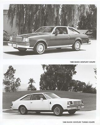 1980 Buick Century Coupe & Turbo Coupe ORIGINAL Factory Photo ouc1274