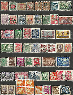 Lithuania from 1919 year  nice COLLECTION old stamps mint/used