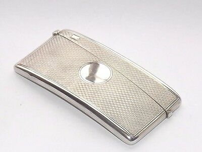 Superb Quality Edwardian Hallmarked Solid Silver Sterling Card Case Chester 1902