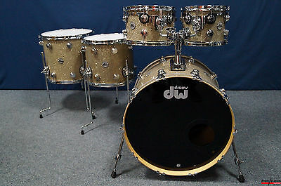 "DW USA Collector's Series Finish Ply Shellset in ""Broken Glass"" - 22,10,12,14,16"
