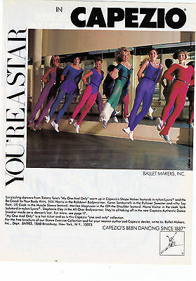 """1983 Capezio """"You're A Star In Capezio"""" 'My One And Only' Cast Print Ad"""