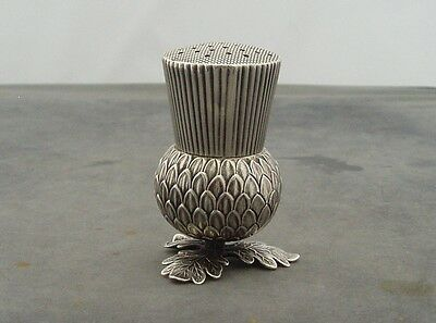 Rare Early Victorian Solid Silver Thistle Novelty Pepperette Birmingham 1845