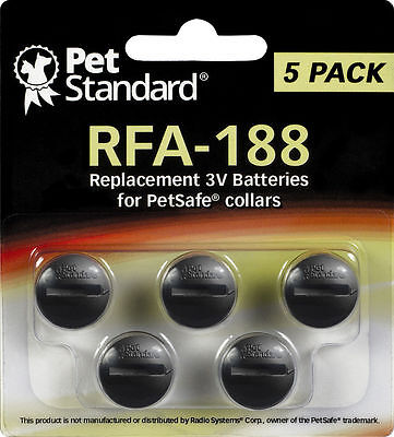 PetSafe Compatible RFA-188 Replacement Battery 5 pack