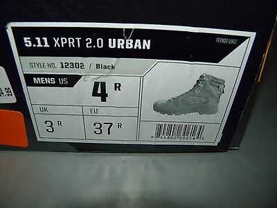 5.11 Xprt 2.0 Urban 12302 Tactical Boot Waterproof Midrise Mens 4 R Black New