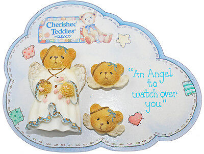 Cherished Teddies An Angel to Watch Over You Brooch / Pin & Earrings 176273