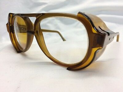 VINTAGE NOS AMERICAN OPTICAL Safety Glasses Honey Clear Z87