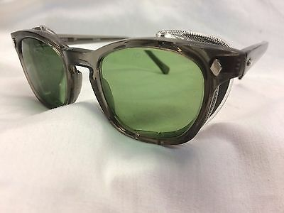 AO 3M SAFETY GLASSES F9800 FRAME GREEN GLASS AO Safety Lenses Z87-2+ /Shield NEW