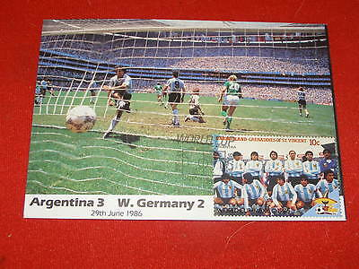 Mexico 1986 World Cup Final Masterfile Postcard Argentina v West Germany - A