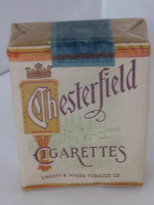 WW2 Vintage Cigarettes Chesterfield Brand in Unopened Condition