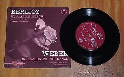"'Berlioz Hungarian March' PIERRE DERVAUX 7"" vinyl single EP Concert Hall SMS 984"