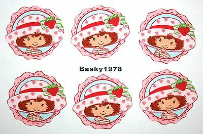 Strawberry Shortcake Circles Patches Kids / Iron On Fabric Appliqués No Sew