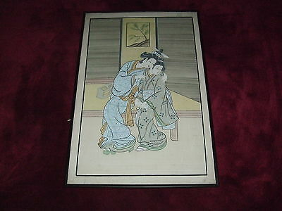 20Th Century Japanese Or Chinese Handpainted Watercolour On Silk