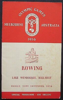 Melbourne Olympic Games 1956 Rowing Programme 23 November