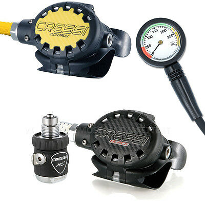 Erogatore Cressi Sub Ellipse Black Mc5 Con Octopus Dive Regulator Octopus Gauge