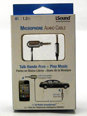 iSound Microphone Audio Cable for smartphones with a 3.5mm audio jack