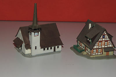 RF 09 Z Scale KIBRI Church and half-timbered house