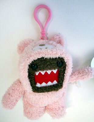"""Limited Edition Clip On Domo Kun Pink Plush 5"""" Toy Doll Teddy Bear Costume New"""