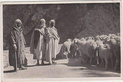 RPPC,Palestine,Holy Land,Middle East,Arabic Shepherds,Used,Egypt Stamp,c.1936