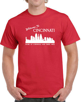 302 Cornhole 3 ways mens t-shirt Cincinnati pride funny ohio cincy nati vintage