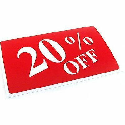 20% Off Plastic Message Display Sign