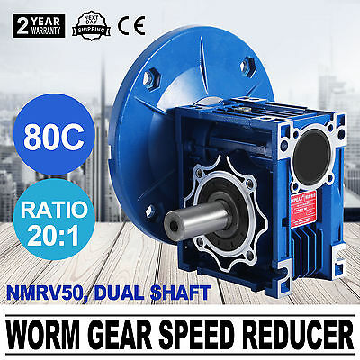 NMRV050 20:1 56c Speed Reducer Double Out Shaft Gearbox Trade Great NEWEST