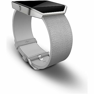 Fitbit Blaze Leather Accessory Band Mist Grey - Small :The Official Argos Store
