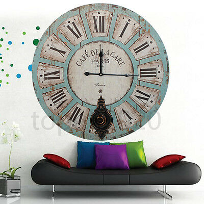 60Cm Antique Vintage Style Extra Large Shabby Chic Wall Clock