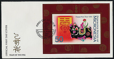 Micronesia 208 on FDC - Year of the Boar