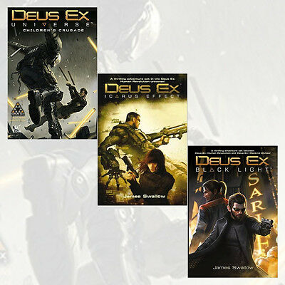 Deus Ex Series 3 Books Collection Children's Crusade, Black Light, Icarus Effect