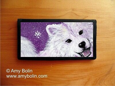 SAMOYED DOG CHECKBOOK COVER by Amy Bolin WISH UPON A SNOWFLAKE