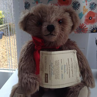 Deans Mohair Bear Basil Limited Edition -With all original tags