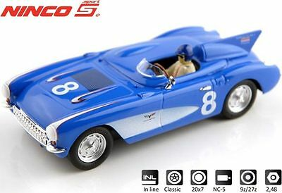 NINCO 50636 Corvette 56 SR-2BLUE # 8 Neu / Ovp
